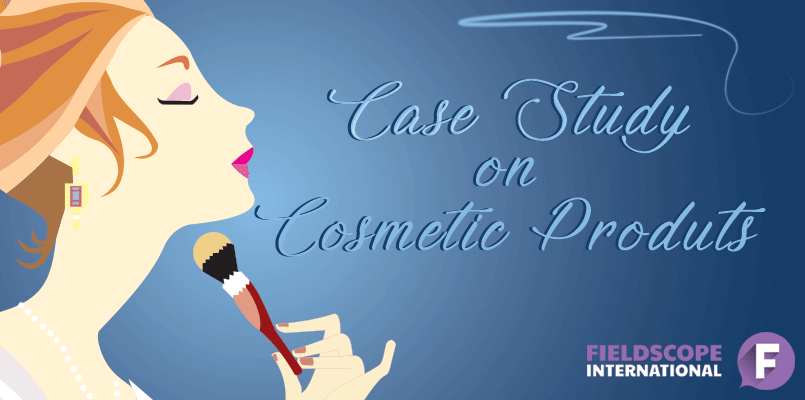 How we recruited people for a study on cosmetic products